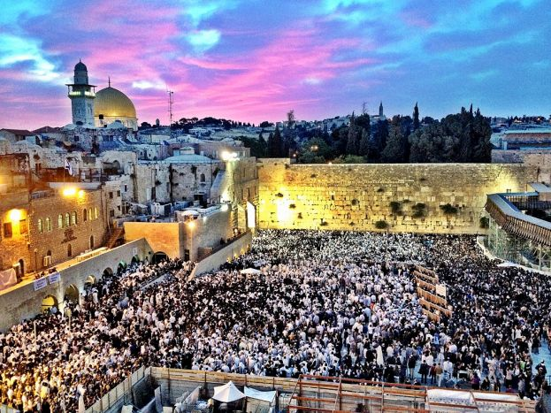 Sunrise on Shavuot at the Western Wall