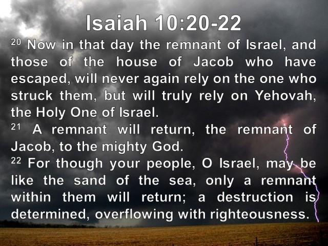 The Kingdom of God - Isaiah 10.20-22