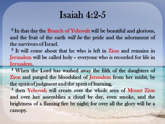 The Kingdom of God - Isaiah 4.2-5