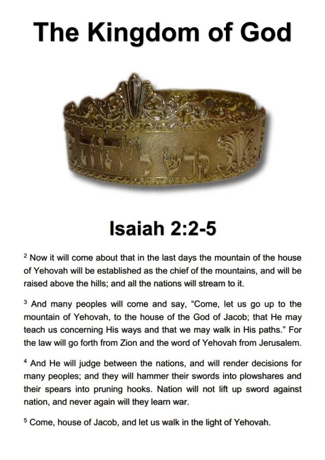 The Kingdom of God - Isaiah 2.2-5