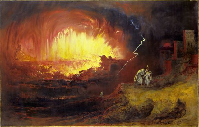 The Destruction of Sodom and Gommorah by John Martin (1852), oil on canvas