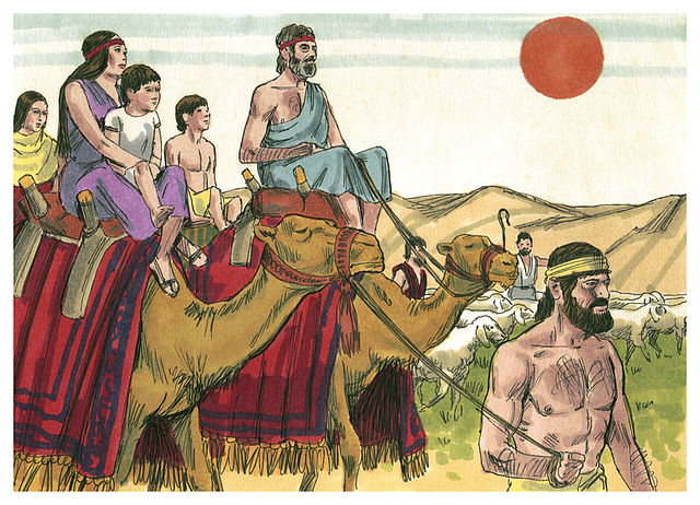 Caravan of Jacob leaving Laban, by Sweet Media