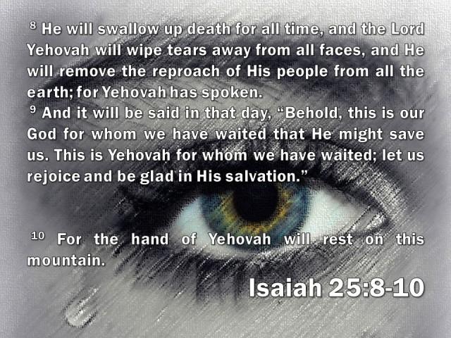 Isaiah 25:8-10