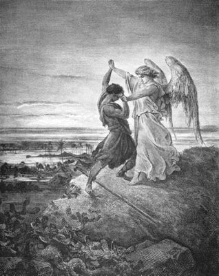 Jacob Wrestling with the Angel by Gustave Doré