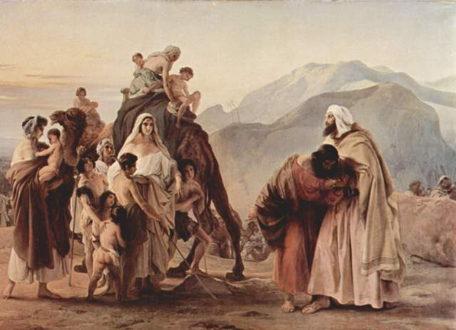 The Reunion of Jacob and Esau by Francesco Hayez